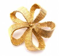 Vintage Large Abstract Flower Brooch By Sphinx.